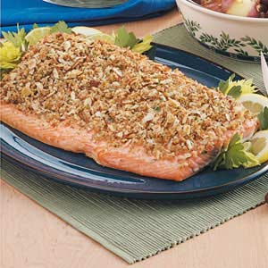 Baked Salmon with Crumb Topping Recipe