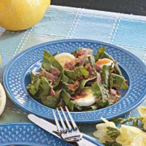 Tangy Spinach Salad Supreme Recipe