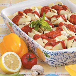 Three-Cheese Shells Recipe