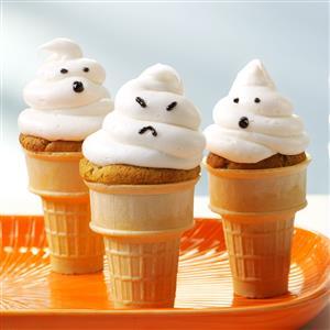 Ghost Cupcake Cones Recipe