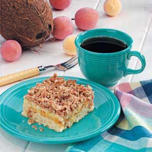 Apricot Coconut Coffee Cake Recipe