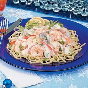 Shrimp with Lemon Linguine