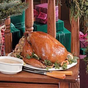 Turkey with Corn Sausage Stuffing