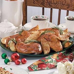 Rosemary Chicken Dinner Recipe