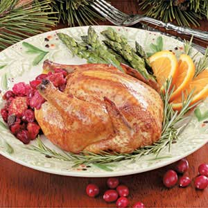 Cornish Hens with Cranberry Stuffing Recipe