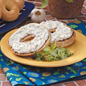 Garlic-Herb Bagel Spread Recipe