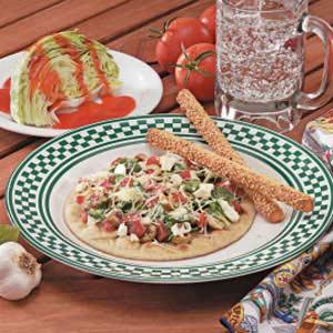 Greek Pita Pizzas Recipe