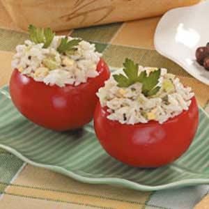Rice Salad in Tomato Cups Recipe
