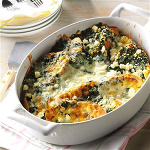 Spinach Feta Strata Recipe