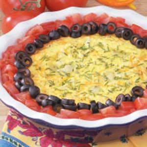 Artichoke Cheese Oven Omelet Recipe
