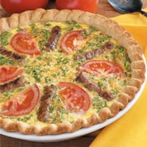 Sausage Garden Quiche Recipe