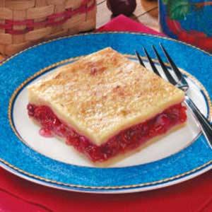 Danish Cherry Rhubarb Dessert