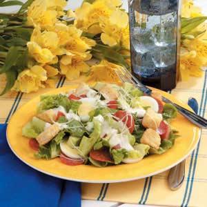 Quick Pepperoni Caesar Salad Recipe