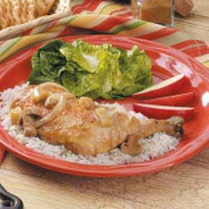 Cumin Chicken With Apples Recipe