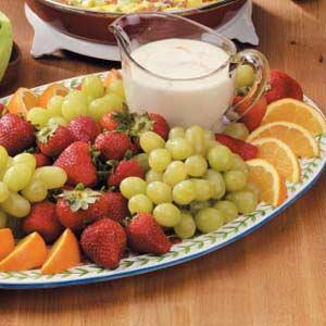Creamy Orange Fruit Dip Recipe
