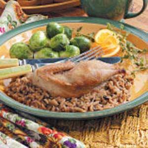Partridge with Wild Rice Recipe