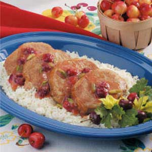 Sweet Cherry Pork Chops Recipe