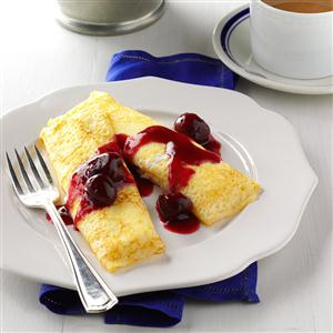Cherry Cheese Blintzes Recipe