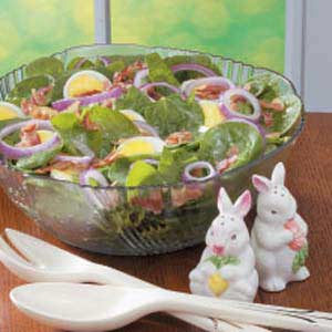 Sweet-Sour Spinach Salad Recipe
