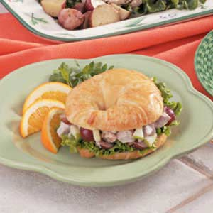 Pork Salad Croissants Recipe