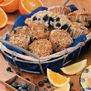Lemon-Blueberry Oat Muffins Recipe