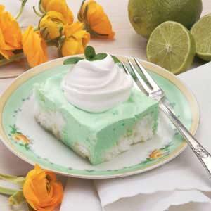 Luscious Lime Angel Squares Recipe