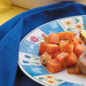 Baked Garlic Sweet Potatoes Recipe