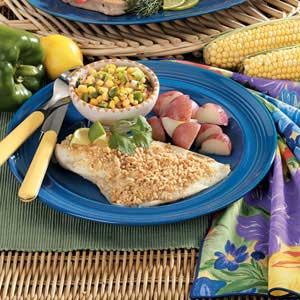 Peanut-Crusted Orange Roughy Recipe
