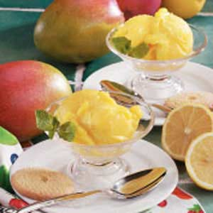 Mango Lemon Sorbet Recipe