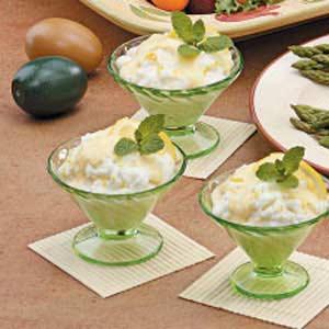 Lemon Clouds with Custard Recipe