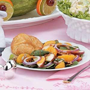 Spinach Salad with Honey Mustard Dressing Recipe