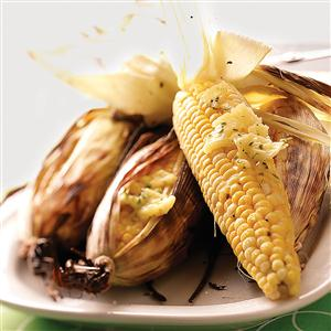Grilled Corn with Chive Butter Recipe