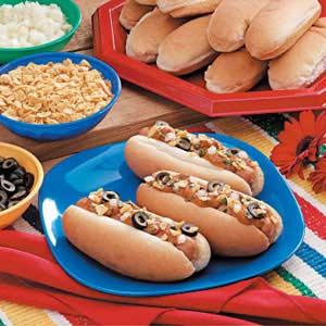 Fiesta Chili Dogs Recipe
