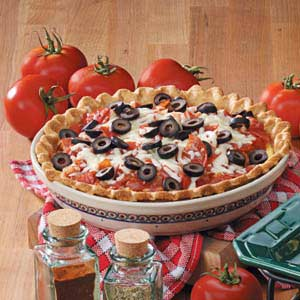 Pepperoni Pizza Quiche Recipe