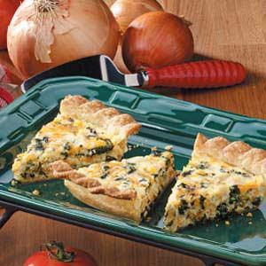 Chicken Spinach Quiche Recipe