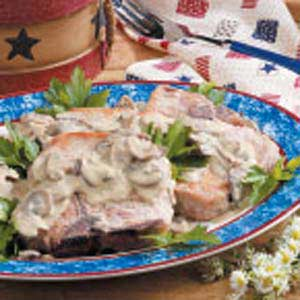 Pork Chops in Mustard Cream Sauce Recipe