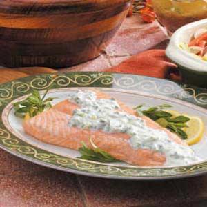 Grilled Salmon with Creamy Tarragon Sauce Recipe
