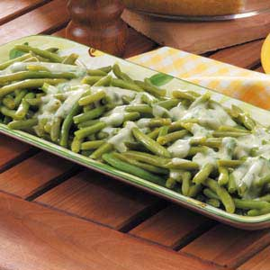 Beans with Parsley Sauce Recipe