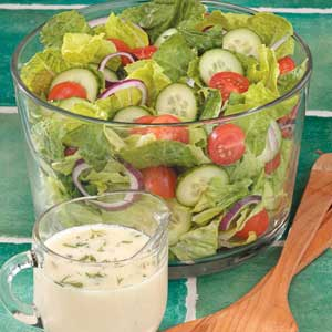 Dilly Romaine Salad Recipe