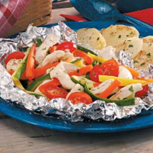 Tarragon Chicken Bundles for Two Recipe