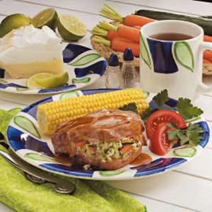 Pilaf-Stuffed Pork Chops Recipe