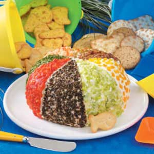 Festive Cheese Beach Ball Recipe
