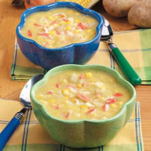 Creamy Corn Crab Soup Recipe