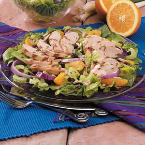 Orange Grilled Chicken Green Salad Recipe