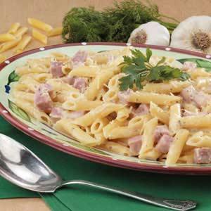 Ham and Cheese Ranch Pasta