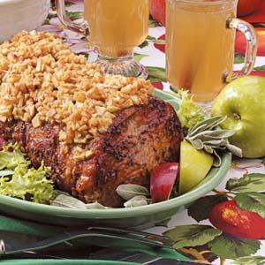 Apple-Topped Pork Loin Recipe