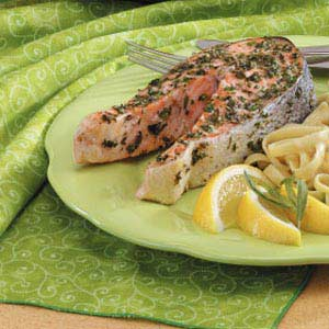 Tarragon Salmon Steaks Recipe