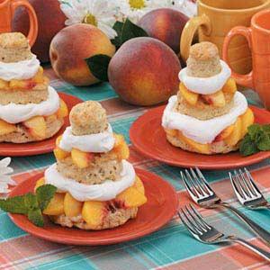 Peach Shortcake Towers Recipe