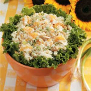 Mandarin Peanut Rice Salad Recipe