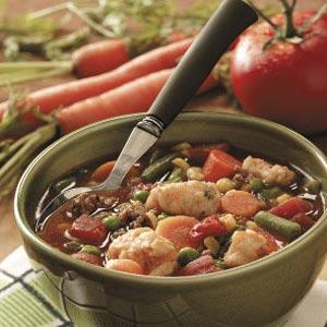 Dumpling Vegetable Soup Recipe